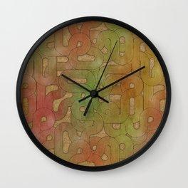 retro swirls Wall Clock