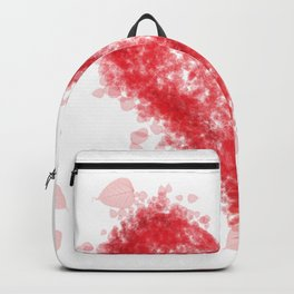 Valentine Flying Heart with Leaves Backpack