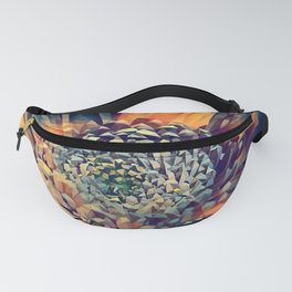 polygon art Flower stamp pen drawing  Fanny Pack
