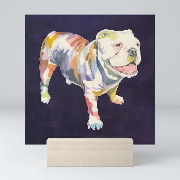 English Bulldog Mini Art Print by johnandwendy