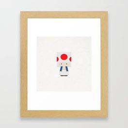 THE MUSHROOM Framed Art Print