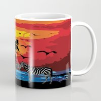 safari Mugs featuring Safari  by Cindys