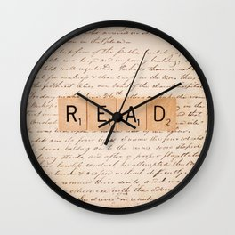 Bookaholic Wall Clock
