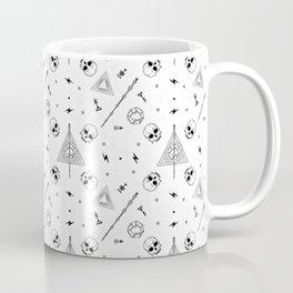 Deathly Hallows (White) Coffee Mug