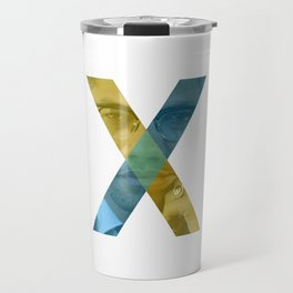 Malcolm X Pop Art Typography Travel Mug