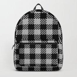 Linen  Bison Plaid Backpack