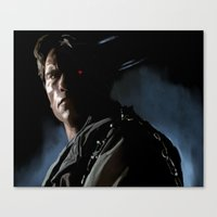 terminator Canvas Prints featuring Terminator by Andrea Solfato