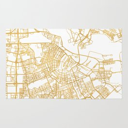 AMSTERDAM NETHERLANDS CITY STREET MAP ART Rug