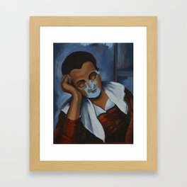 After: Girl Asleep at a Table Framed Art Print