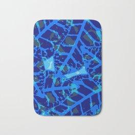 Blue Palm Shadows Bath Mat