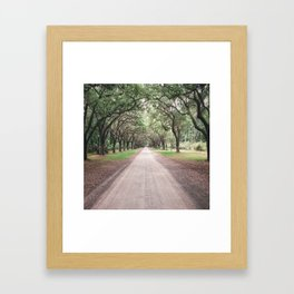 the heart melts on long driveways because rarely are our own paths in life as straight or as scenic Framed Art Print