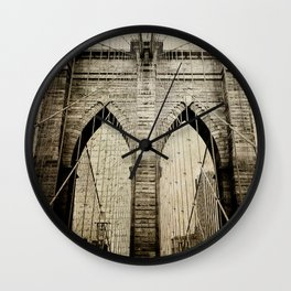 Letters From Brooklyn Wall Clock