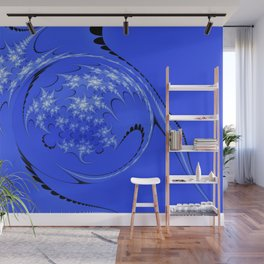 Blue and White Morph Wall Mural