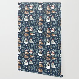 Christmas English Bulldogs Wallpaper