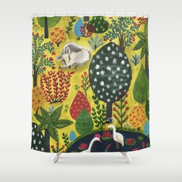 Indian fairy forest Shower Curtain