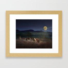 Moonlight Run Framed Art Print