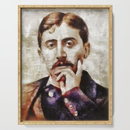 Marcel Proust, Literary Legend Serving Tray