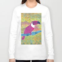 toucan Long Sleeve T-shirts featuring Toucan by Eliana Bertola