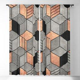 Concrete and Copper Cubes 2 Blackout Curtain