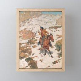 In Hot Pursuit - Charles Schreyvogel Framed Mini Art Print