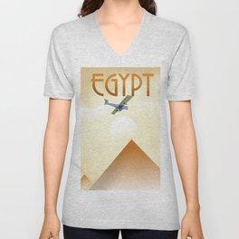 Egypt Travel poster Unisex V-Neck