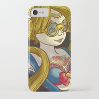 steam punk iPhone & iPod Cases featuring Sailor steam punk by K-Boomsky