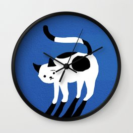 Abstraction_CAT_BLUE Wall Clock