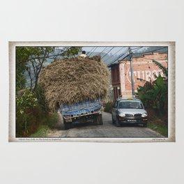 NEPALI HAY RIDE ON THE ROAD TO NAGARKOT Rug