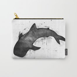 Whale shark, black and white Carry-All Pouch