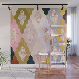 #05#Fabric in pieces pattern Wall Mural