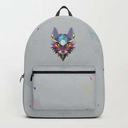 Wolf Color Geometric Backpack