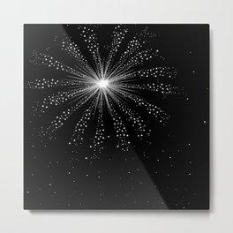 Sky Rocket Explosion Metal Print