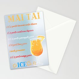 Mai Tai Cocktail Bar Drinks Barkeeper Restaurant Stationery Cards
