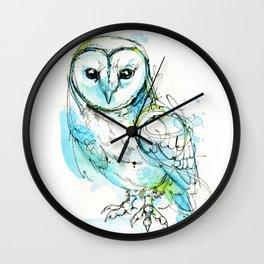 Aqua Tyto Owl Wall Clock