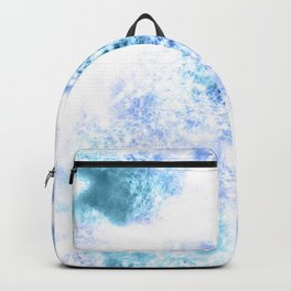 Bright Blue Marble Crystal Watercolor Backpack