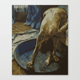 Woman in Bath - Degas - Vector Series Canvas Print