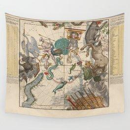 Ignace-Gaston Pardies - Globi coelestis Plate 6: Centaurus, Indus, Chamaeleon and other constellatio Wall Tapestry