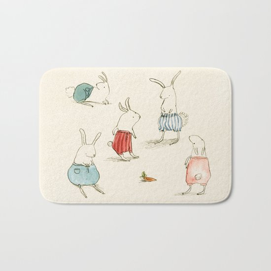 If Rabbits Wore Pants Bath Mat