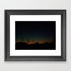 Wired road Framed Art Print