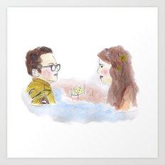 Sam and Suzy, Moonrise Kingdom Art Print