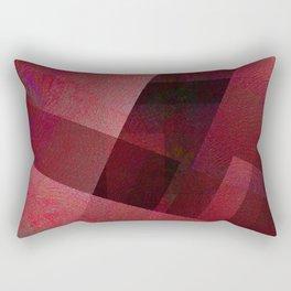 Ravishing Red - Digital Geometric Texture Rectangular Pillow