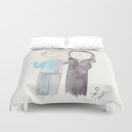 Just a couple of old space dorks Duvet Cover