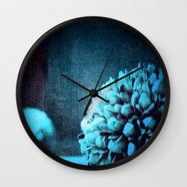 Blue Pods Wall Clock