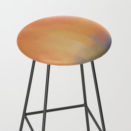 Abstract Landscape With Golden Lines Painting Bar Stool