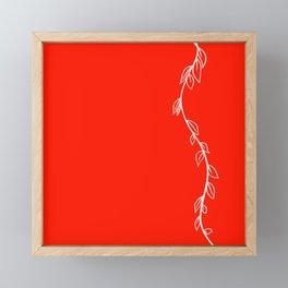 Red Vine on White Framed Mini Art Print