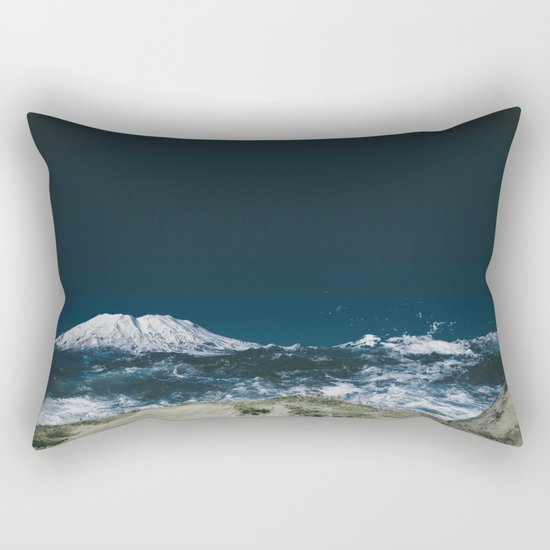Waves of Mount Saint Helens Rectangular Pillow