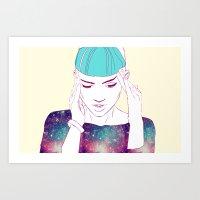 grimes Art Prints featuring GRIMES by Nuk_