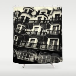 Houses on Hastings Seafront Shower Curtain