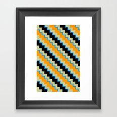 Pixel Orange Framed Art Print