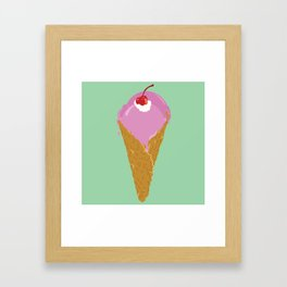 Strawberry Icecream Framed Art Print